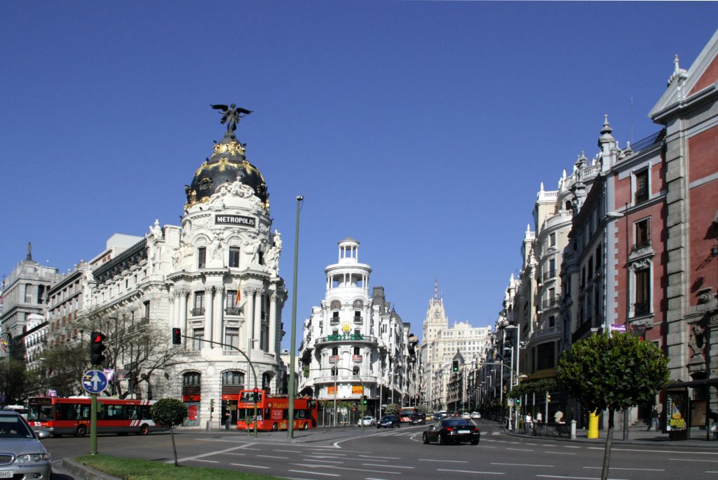 Calle Alcalá en Madrid