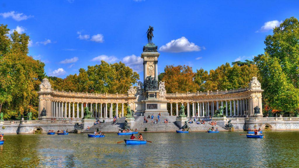 El Parque del Retiro en Madrid