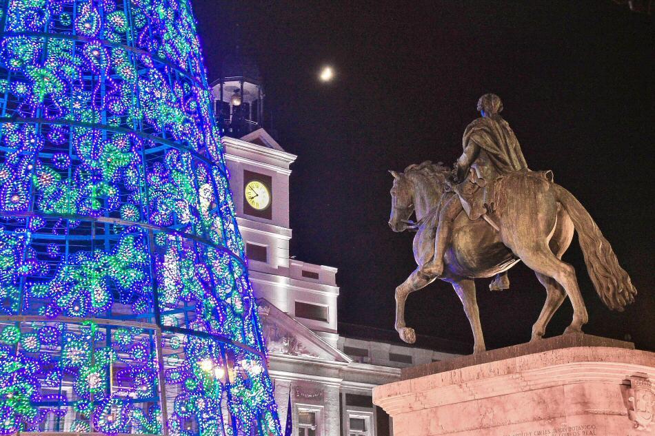 Luces de Navidad en Madrid Puerta del Sol